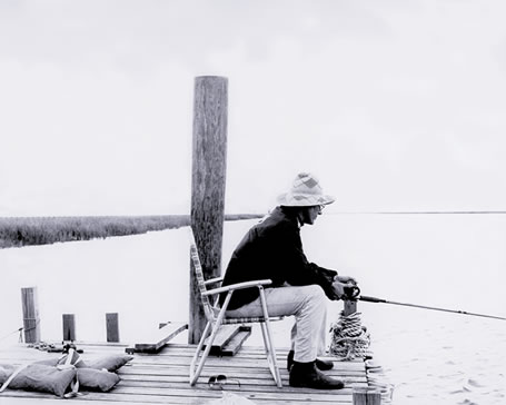 Roger Lenz fishing at the Medway River.