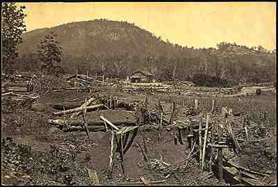 Front view of Kennesaw Mountain, 1865, by George Barnard.