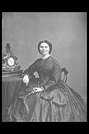 Clara Barton, the founder of the Red Cross, came to Andersonville to help with the cemetery.