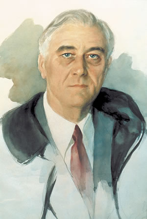 President Franklin D. Roosevelt, who fished the waters of the Flint at Flat Shoals, died at his home in Warm Springs on April 12, 1945, while posing for the Unfinished Portrait.