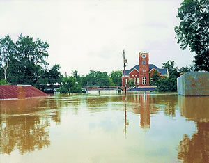 Baker County Courthouse, Newton, GA 7/94. Photo courtesy of USGS. M.S. Reynolds.