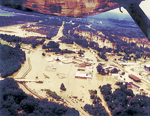 Downtown Montezuma, GA near the Flint River 7/9/94. Photo courtesy of USGS. T.W. Hale.