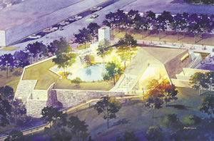 An artist's rendering of the planned Flint RiverCenter. Rendering courtesy of Albany Tomorrow, Inc.